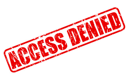 access denied: Access denied red stamp text on white Stock Photo