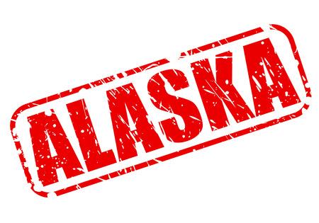 Alaska red stamp text on white photo