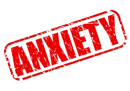 traumatic: Anxiety red stamp text on white Stock Photo