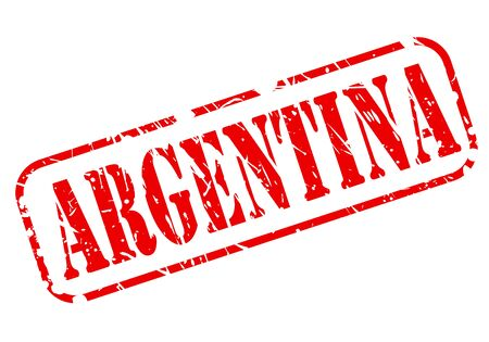 Argentina red stamp text on white photo