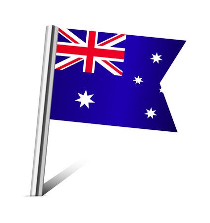 australia flag: Australia flag pin on white Stock Photo