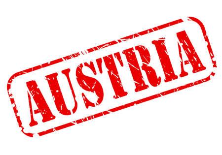 Austria red stamp text on white photo