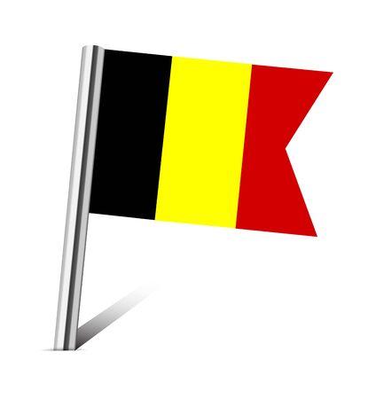 Belgium flag pin on white photo