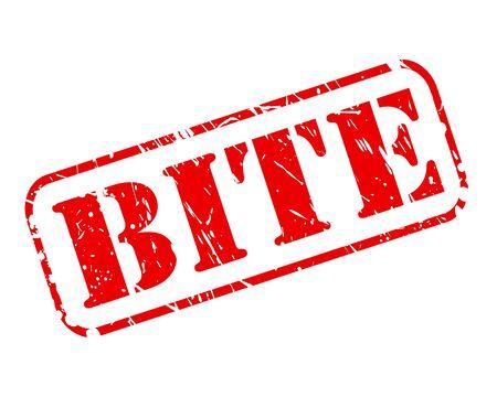 bite: Bite red stamp text on white