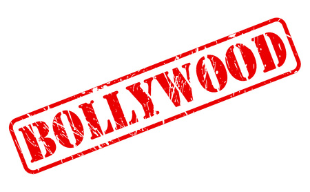 bollywood: Bollywood red stamp text on white Stock Photo
