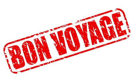 bon: Bon voyage red stamp text on white