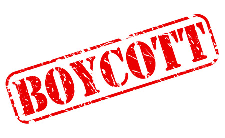 boycott: Boycott red stamp text on white