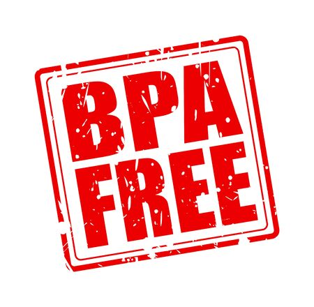 phthalates: BPA FREE red stamp text on white Stock Photo