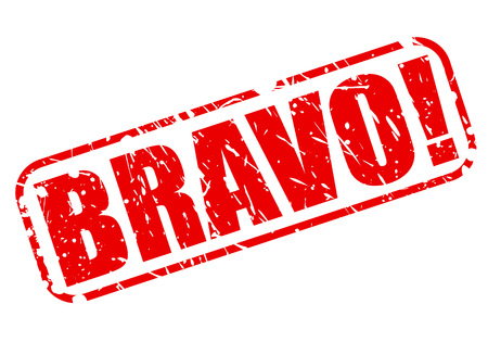 encore: Bravo red stamp text on white Stock Photo