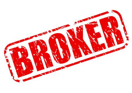 broker: Broker red stamp text on white