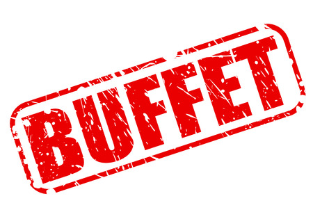 buffet: Buffet red stamp text on white Stock Photo