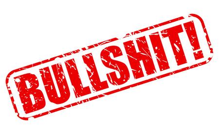 Bullshit red stamp text on white photo