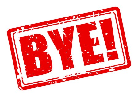 bye: Bye red stamp text on white Stock Photo