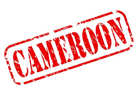 cameroon: Cameroon red stamp text on white Stock Photo