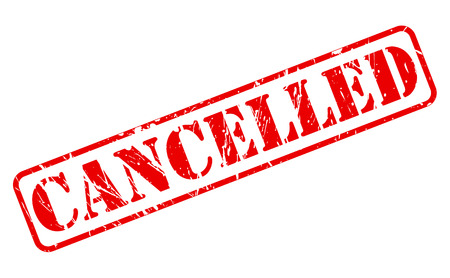 cancelled stamp: Cancelled red stamp text on white