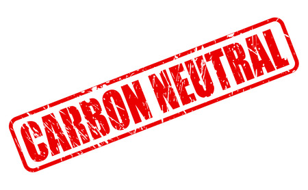 neutral: CARBON NEUTRAL red stamp text Stock Photo