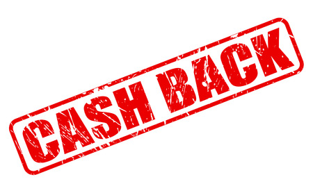 moneyback: Cash back red stamp text on white Stock Photo