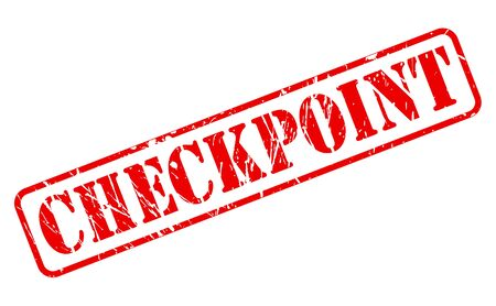 checkpoint: Checkpoint red stamp text on white