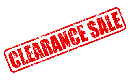 Clearance sale red stamp text on white