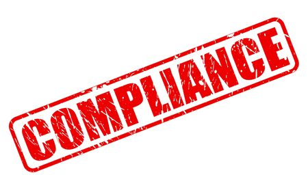 Compliance red stamp text on white Stock Photo