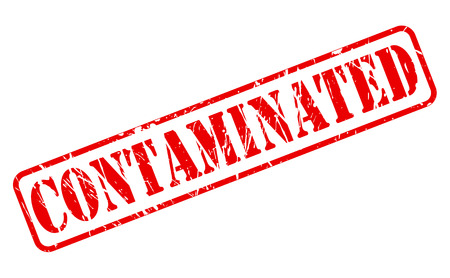 contaminated: CONTAMINATED red stamp text on white