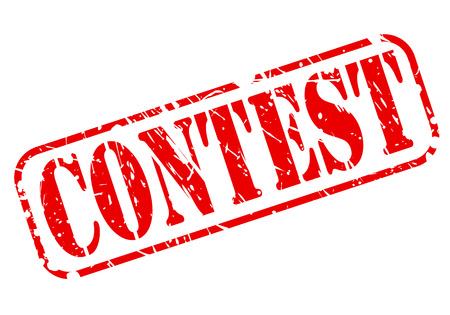 Contest red stamp text on white