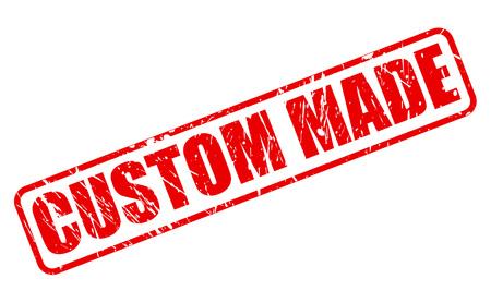 custom made: Custom made red stamp text on white