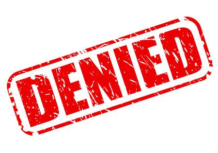 Denied red stamp text on white Reklamní fotografie