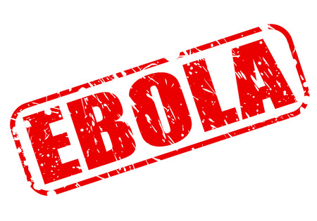 h1n1 vaccine: EBOLA red stamp text on white Stock Photo