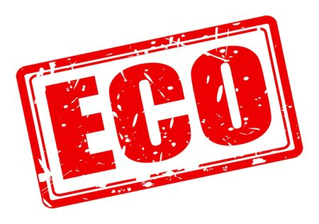 els: Eco red stamp text on white Stock Photo