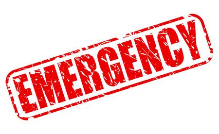 life giving birth: Emergencia texto del sello rojo sobre blanco