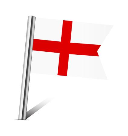 flag pin: England flag pin on white Stock Photo