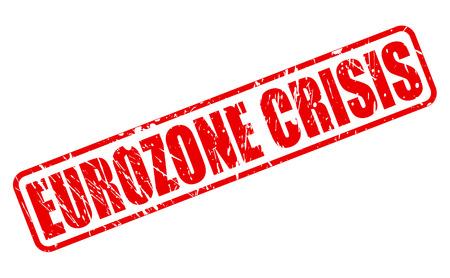 zone euro: Crise de l'euro texte tampon rouge sur fond blanc Banque d'images