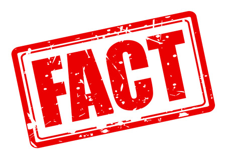 FACT red stamp text on white