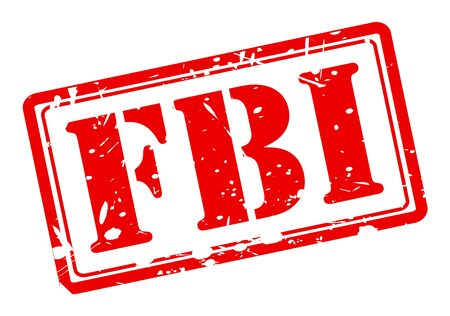 conspire: FBI red stamp text on white background