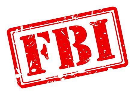 fbi: FBI texte tampon rouge sur fond blanc