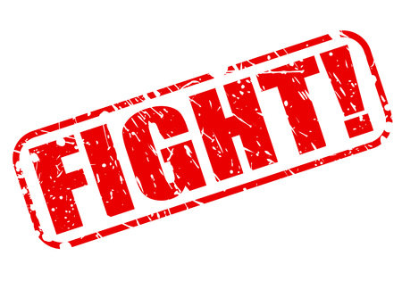 hostility: Fight red stamp text on white Stock Photo