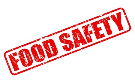 tommy: Food safety red stamp text on white