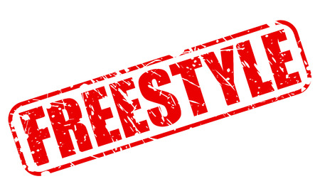 freestyle: Freestyle red stamp text on white Stock Photo