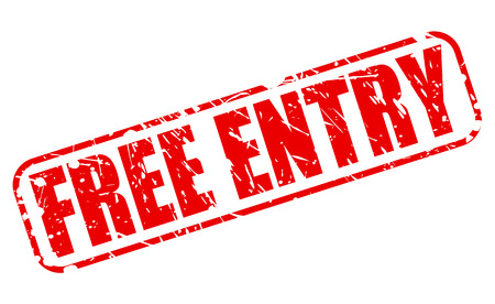 freebie: Free entry red stamp text on white
