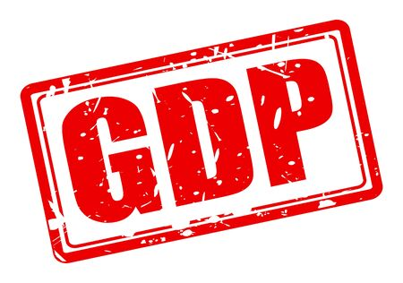 credit crunch: GDP red stamp text on white