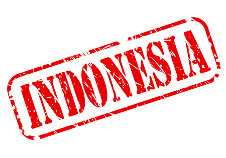 oceana: Indonesia red stamp text on white Stock Photo