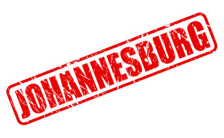 johannesburg: Johannesburg red stamp text on white Stock Photo