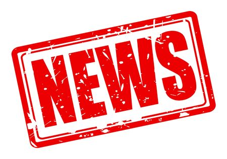 rubberstamp: News red stamp text on white