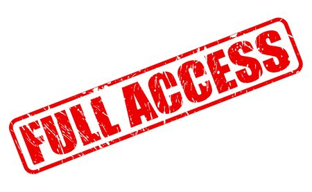 accession: Full access red stamp text on white