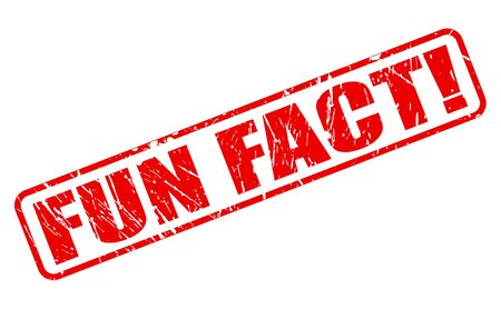 distraction: Fun fact red stamp text on white Stock Photo