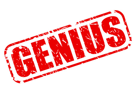 talented: Genius red stamp text on white Stock Photo