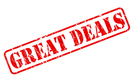 Great deals red stamp text on white Imagens