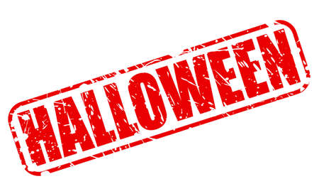 permission granted: Halloween red stamp text on white