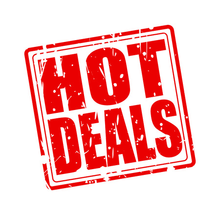 Hot deals red stamp text on white Imagens